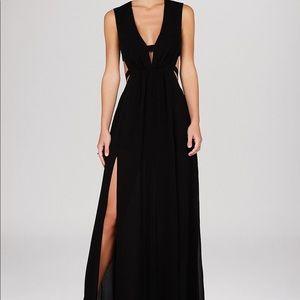 Alda sleeveless deep v cutout gown